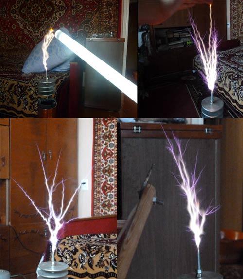 Катушка тесла на лампе схема