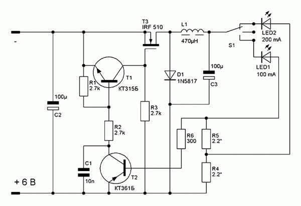 Схема стабилизатора тока