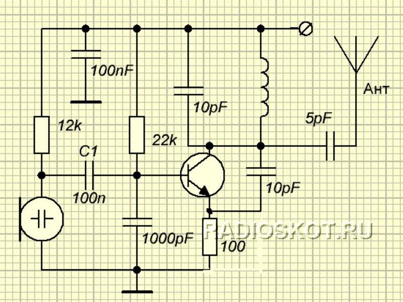 радиожучок простой схема